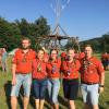 Klemen, Nežka, Nika, Nastja in Blaž - udeleženci tabora voditeljev